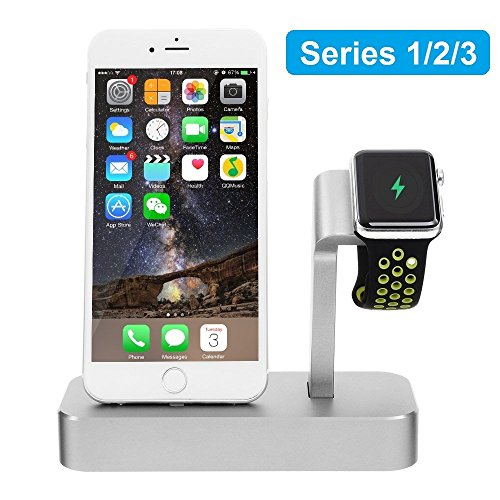Aluminum Watch Stand Charging Dock for iWatch iPhone(Silver) - 5
