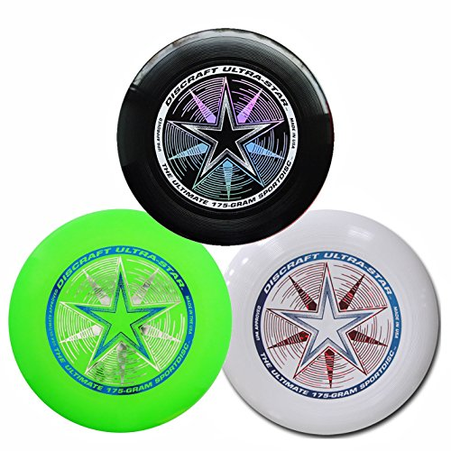 Discraft 175g Ultimate Disc Bundle (3 Discs) Black, White & Green by Discraft (Image #4)