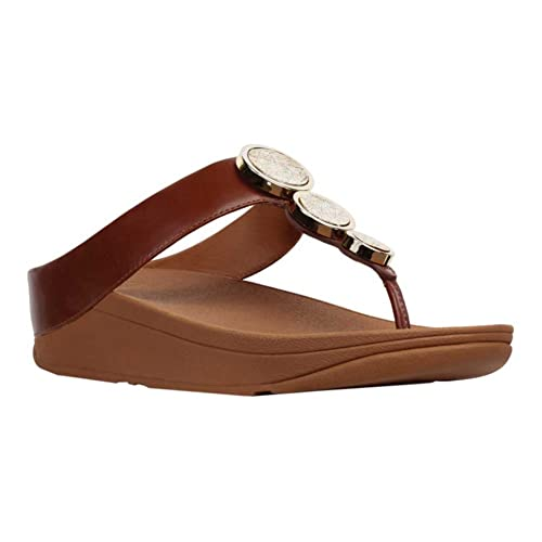 f7bed5034 FitFlop New Women s Halo Thong Sandal Cognac 9  Amazon.co.uk  Shoes   Bags