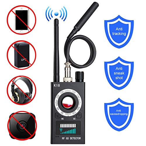 Anti-spy Camera Bug RF Detector,ONTOTL Wireless Bug Detector Hidden Camera Lens Detector Radio Wave Signal Detect Full-range GSM Device Finder,Camera Detector for Anti Eavesdropping/Candid/GPS Tracker Review