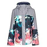 Roxy SNOW Junior's Roxy Jetty Block Snow Jacket, Neon Grapefruit_Cloud Nine, M