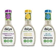 Daiya Salad Dressing Variety Pack, Dairy Free :: Homestyle Ranch, Creamy Caesar, Blue Cheeze :: Vegan, Gluten Free, Soy Free, Egg Free, Non GMO, 8.36 Oz. (3 Pack)
