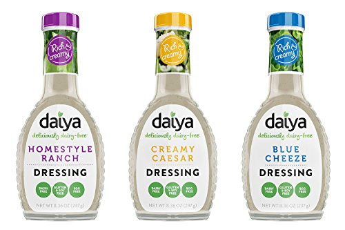 (Daiya Salad Dressing Variety Pack, Dairy Free :: Homestyle Ranch, Creamy Caesar, Blue Cheeze :: Vegan, Gluten Free, Soy Free, Egg Free, Non GMO, 8.36 Oz. (3 Pack))
