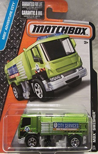 Matchbox, 2016 MBX Adventure City, MBX Swisher Street Cleaner [Neon Green] (Street Cleaner)