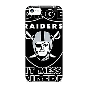 Tpu Case Skin Protector For Iphone 5c Oakland Raiders With Nice Appearance