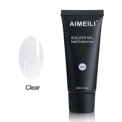 AIMEILI Builder Gel Nail Extensión Esmaltes Semipermanentes de Uñas Gel Construcción Consejos para uñas Rápida Molde