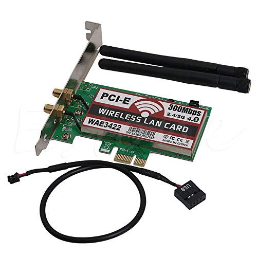 Tarjeta De Red, Bluetooth 4.0 De Doble Banda 2g / 5g 300mbps Pci-e Pci Express Wae3422 Tarjeta De Red Wlan Adaptador Wif