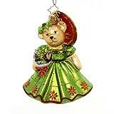 Christopher Radko Yule Log Muffy VanderBear Christmas Ornament