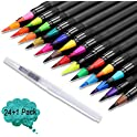 Anrut 24 Vibrant Painting Markers with Flexible Brush Tips