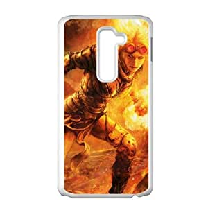 flame throwing girl LG G2 Cell Phone Case Whitepxf005-3733835