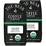 The Bean Coffee Company Aloha Bean (Hawaiian Hazelnut), Organic Ground Bean, 16-Ounce Bags (Pack of 2)