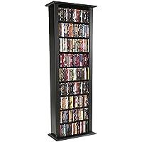 Venture Horizon Media Storage Tower-Tall Single Black