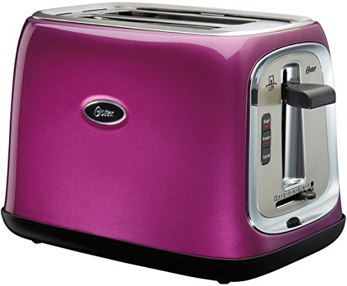 Oster 2-Slice Toaster with Extra Wide Slots, Metallic Purple | TSSTTRJB0P