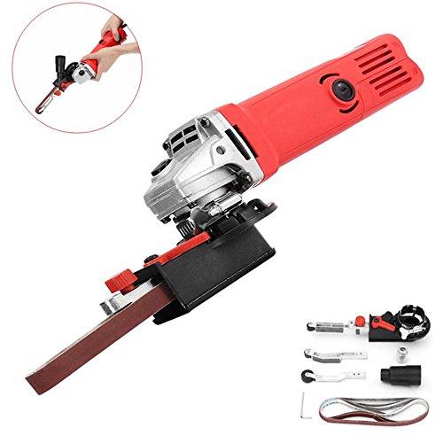 Power Tool Parts Drill Attachment - Sanding Belt Adapter Changed 115/125mm Angle Grinder into Sander Sanding Machine - 3 x Working arm, 1 x Sanding belt head, 3 x Sanding belt, 1 x Adapter ()