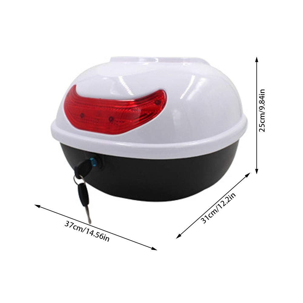 Yunhigh-uk Motorbike Top Box Case Scooter Motorcycle Back Case Rear Luggage Helmet Storage