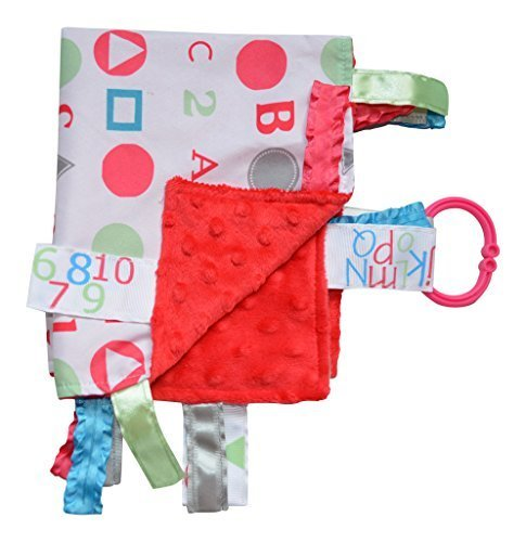 Lovey Security Baby Blanket Sensory Tag Toy Alphabet ABC Numbers 123 The Learning Lovey … (Pink) Abc Baby Blanket