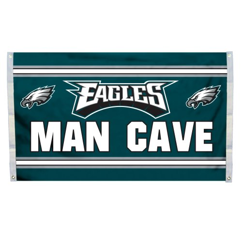NFL Philadelphia Eagles Man Cave Flag with 4 Grommets, 3 x - Philadelphia 3x5 Flag Eagles