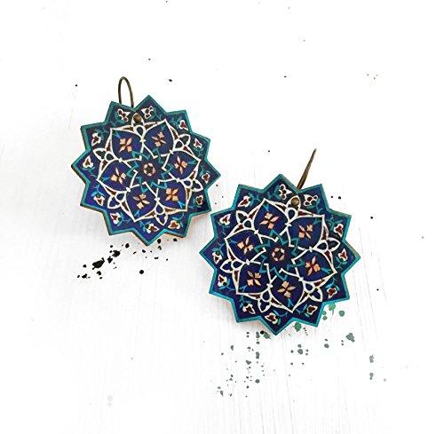(TARA star earrings - geometric - Persian)