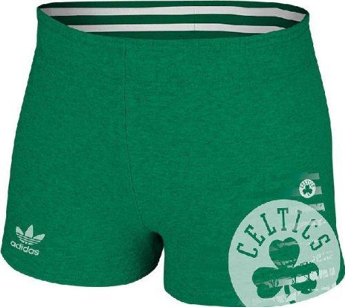 Boston Celtics Women's Sunset Rollover Jersey Shorts by Adidas (XX-Large) ()