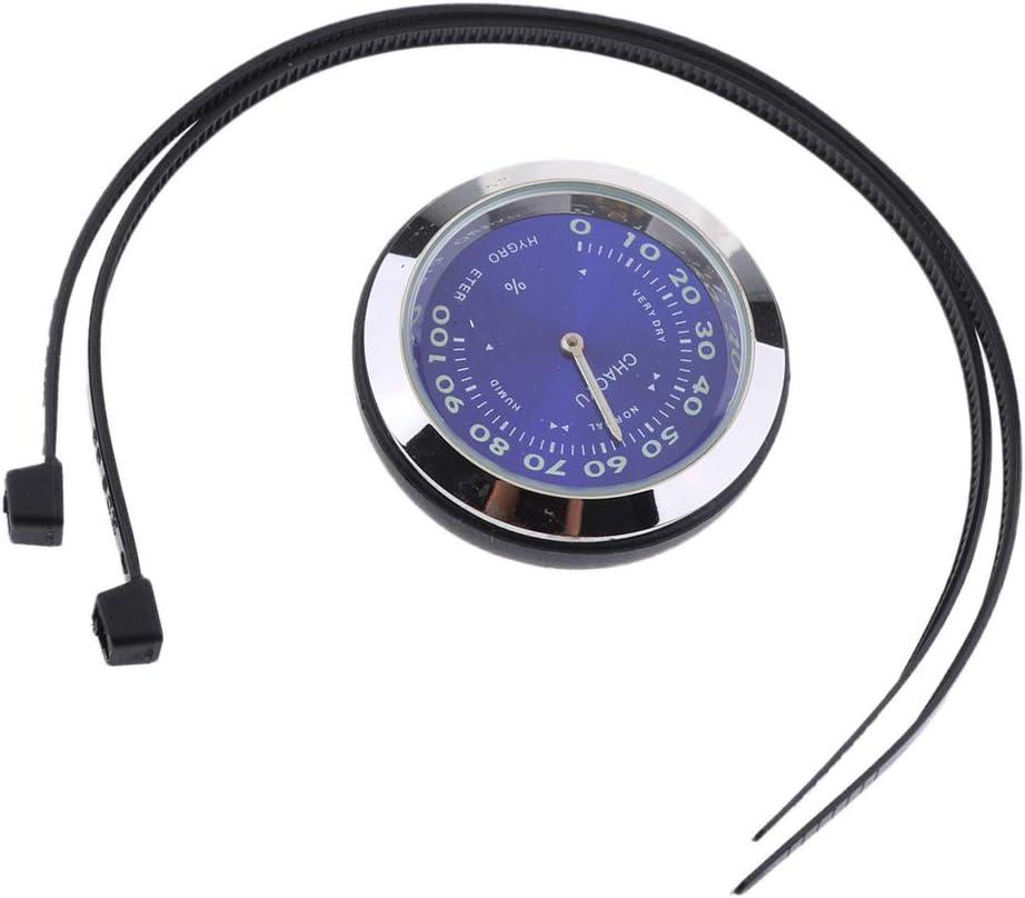 Blau Hygrometer Almencla 7//81 wasserdichte Motorrad Lenkeruhr Thermometer Hygrometer