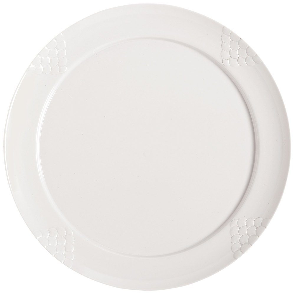 Melamine Plate, Round, Sonoma Series, 18,'' Sold as a Case of 6 - White