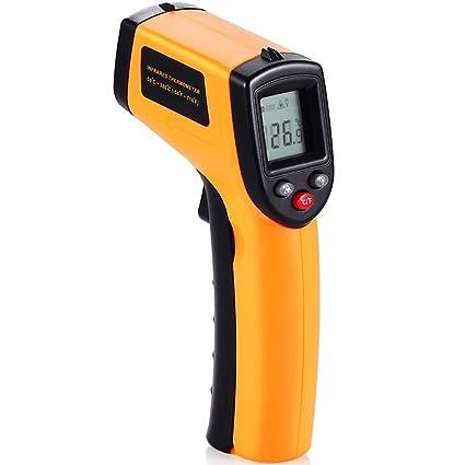 Termómetro Infrarrojo GRDE Pistola de Temperatura Industrial Digital Sin Contacto Infrarrojo con Pantalla LCD Alta Exactitud