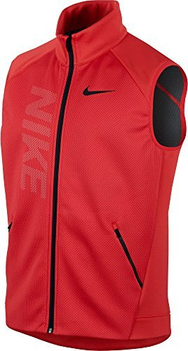 Nike Vest Jacket (Nike Men's Therma Sphere Training Vest, (Action Red/Anthracite/Blk, M))