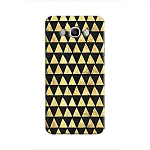 Cover It Up - Gold Black Triangle Tile Galaxy J7 2016 Hard Case