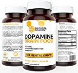 Dopamine Brain Food Supplement - All Natural Neurotransmitter Support - For Mental Alertness, Improved Learning, Attention, Concentration and Confidence 60 vegetarian capsules