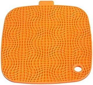 VORCOOL Manique Silicone ménage sous-plats Pot titulaire Coaster Set de table manique Orange