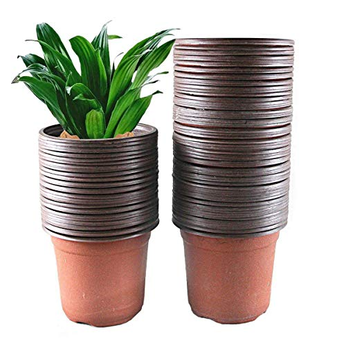 4 1 2 inch plastic flower pots - 7