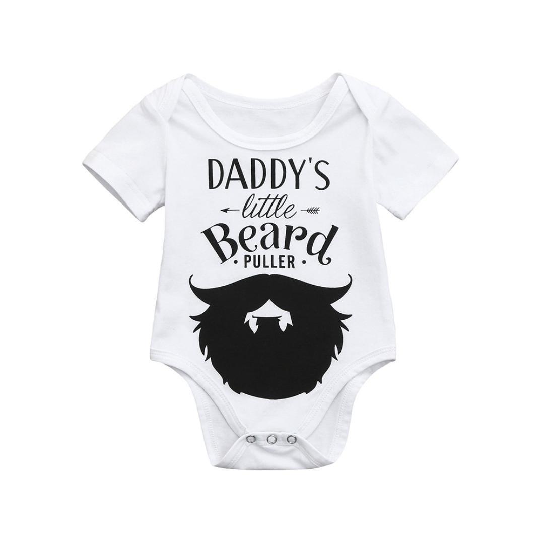 729dd76e1480 Amazon.com: Clearance Sale Newborn Kids Baby Boys Girls Cotton blend Letter  Floral Print Romper Jumpsuit Outfits Party Clothes: Clothing
