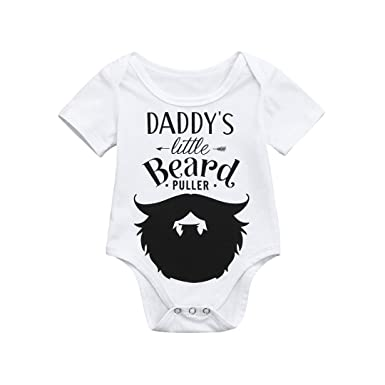 d3295f6fb8be Amazon.com  Clearance Sale Newborn Kids Baby Boys Girls Cotton blend Letter  Floral Print Romper Jumpsuit Outfits Party Clothes  Clothing