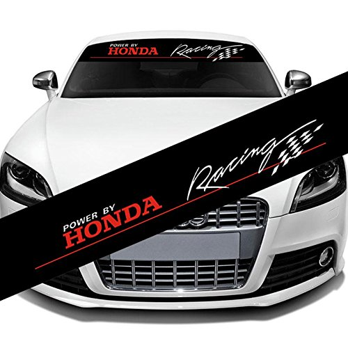Etie 130x21cm reflective material car styling front rear windshield banner decal vinyl car stickers for honda racing auto diy exterior decoration