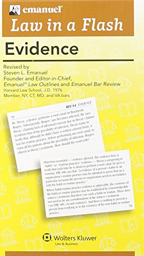 Law in A Flash: Evidence cover