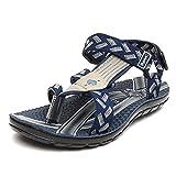 Lee Cooper Men's Sandals & Floaters (7 UK/India(41 EU), Navy/Grey)