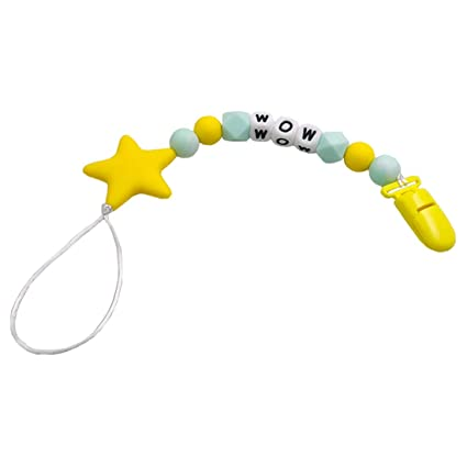 Coskiss Chupete Clips Perlas de dentición de silicona BPA Free Binky ...