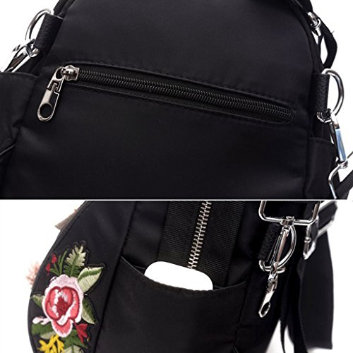 Embroidered Backpack Women Flowers Dragonfly Cross Student body School Girls Handbag Kimruida Bag Backpack EwId7pIq