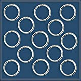 100 Sterling Silver 925 Soldered Closed Jump-Ring 7mm