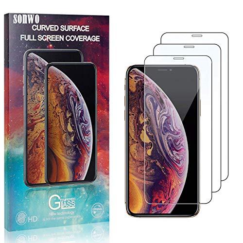 SONWO Schutzfolie für iPhone 11 Pro Max, 3 Stück Schutzfolie Kompatibel mit iPhone 11 Pro Max, Panzerglasfolie, Panzerfolie, Glas Folie