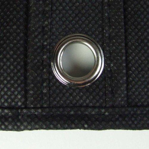 "Hangerworld Black Breathable 60"" Suit or Dress Garment Bag - Secret Internal Zipped Pocket"