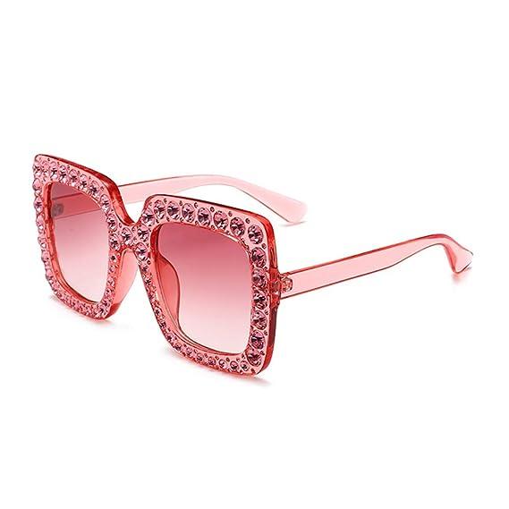 FGlasses Gafas de sol rectangulares de moda para hombre y ...