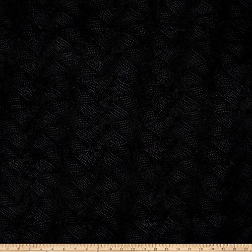 Island Batik Cotton Fabric by the Yard, (Black Batik Fabric)