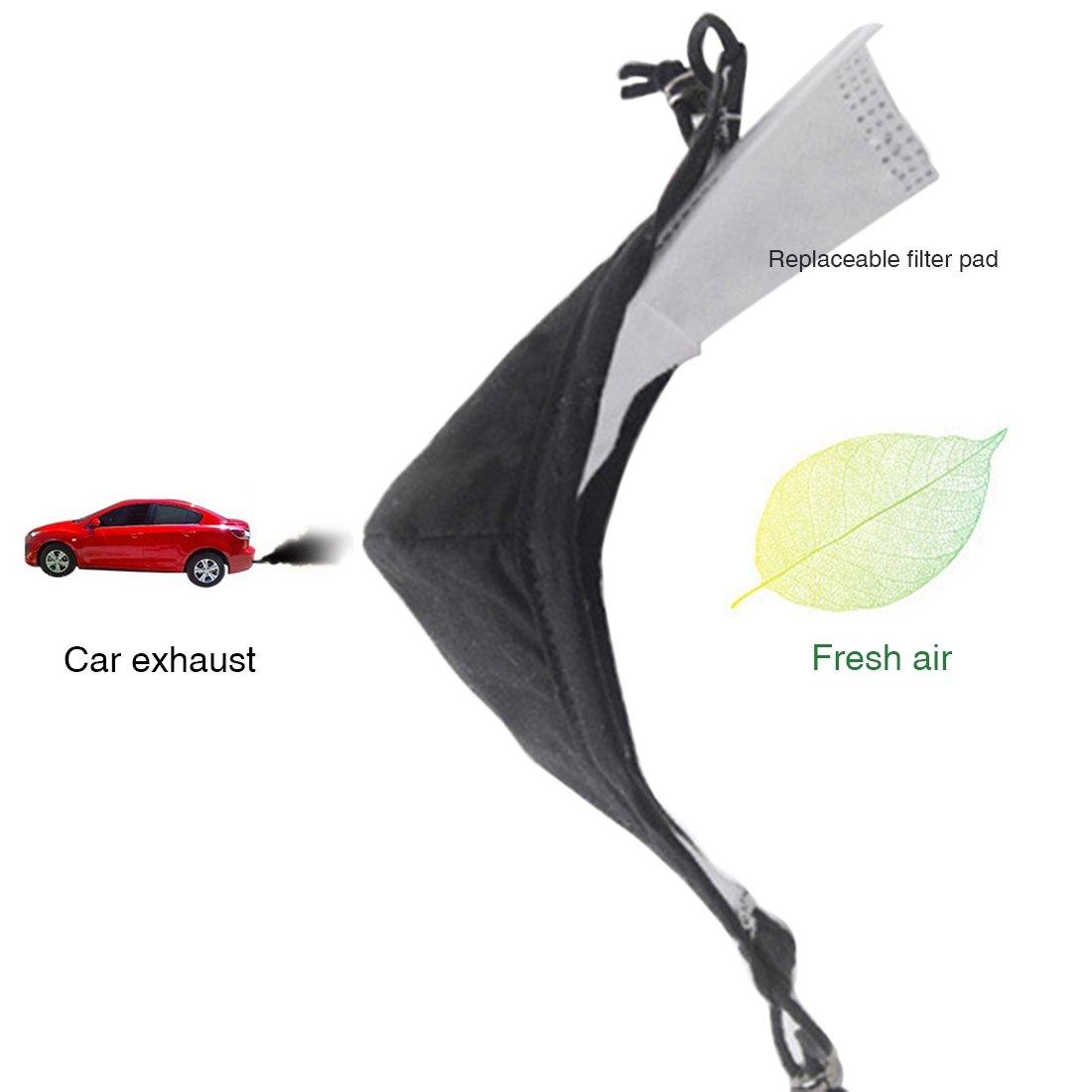Freahap Masque Respiratoire Sport Anti-Pollution Lavable Filtre Changeable