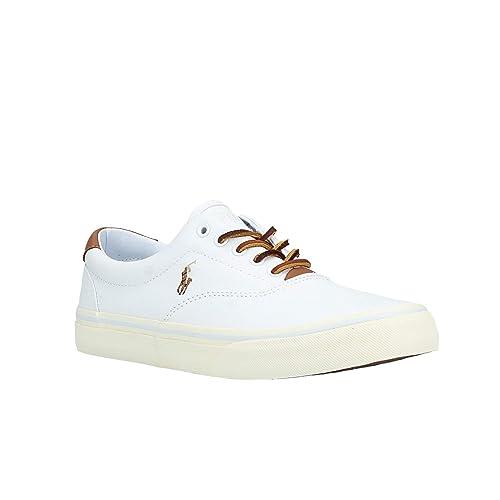Zapatilla RALPH LAUREN para Hombre 816 713107 002 46 Blanco: Amazon.es: Zapatos y complementos