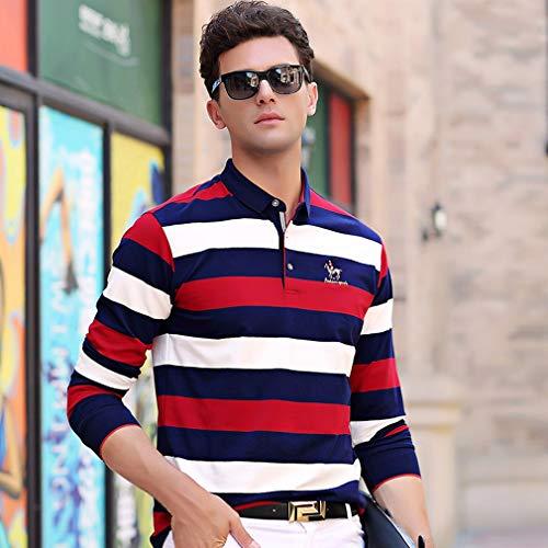 ポロシャツ 長袖 メンズ ボーダー ゴルフ ゴルフウェア メンズ ビジネス ボーダーシャツ 速乾 おしゃれ ファッション 春秋