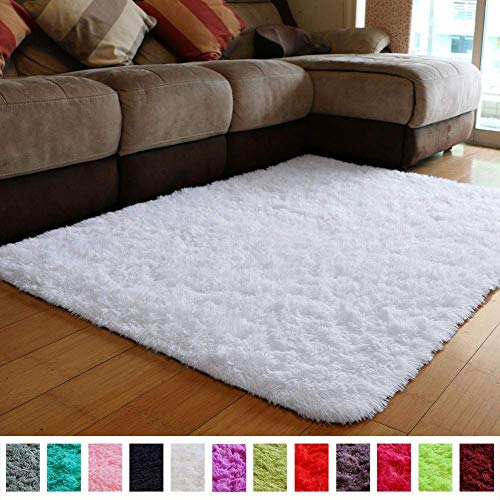 PAGISOFE Soft Comfy White Area Rugs for Bedroom Living Room Fluffy Shag Fur Carpet for Kids Nursery Plush Shaggy Rug Fuzzy Decorative Floor Rugs Contemporary Luxury Large Accent Rug 4