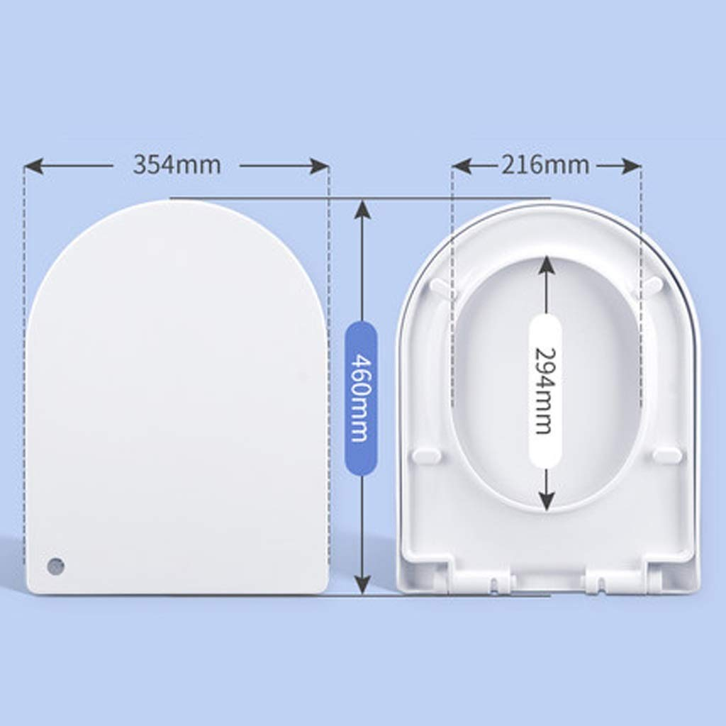 B GXYGWJ Toilet Cover Universal Padded Toilet Cover Vintage Accessories Toilet Plate UV Type Toilet seat (Size   D)