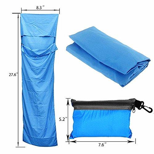 Middletone Sac de Couchage Enveloppe Rectangulaire Léger 100% Polyester pour Camping Randonnées Sac de Couchage 2 Saisons