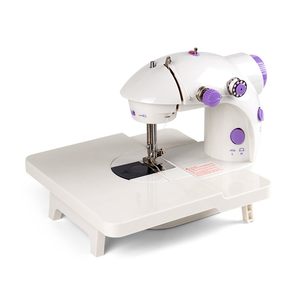 Portable Sewing Machine Table.Haitral Portable Mini Sewing Machine With Extension Table 2 Speeds Sewing Machine With Foot Pedal Dual Power Options Perfect For Beginners Travel